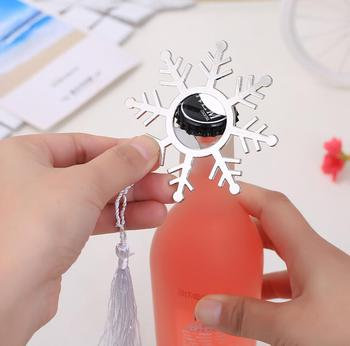 20pcs Snowflake Beer Bottle Opener Corkscrew For Wedding Baby Shower Party Birthday Favor Gift Souvenirs Souvenir