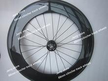88mm clincher track wheels fixed gear carbon wheel,700C single speed flip-flop hub,only rear wheel