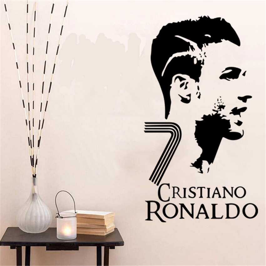2018 Real Promotion Neymar Sports Ball Star C Ron Cr7 Wall Stickers Student Dormitory Bedroom Background Decoration Poster D21