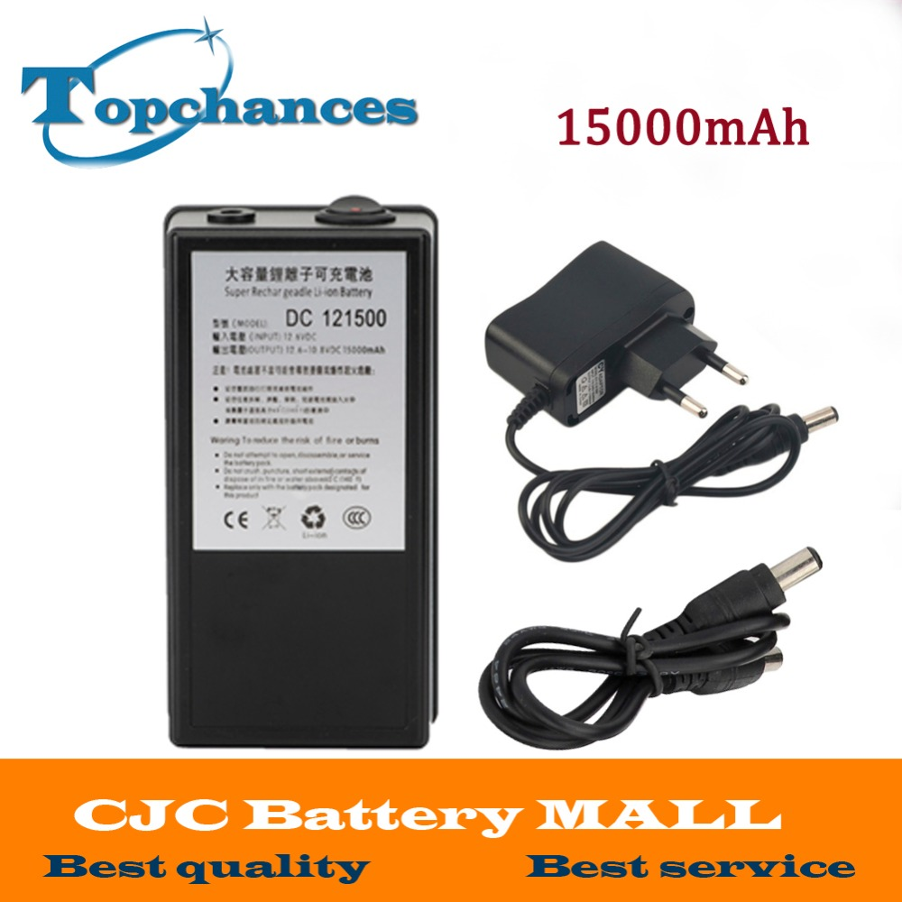 High Quality Super Rechargeable Portable Lithium-ion Battery With Case DC 12V 15000mAh DC 121500 For Cameras Camcorders free customs taxes high quality rechargeable battery 48v 30ah 2000w lithium ion battery pack and 50a bms and charger