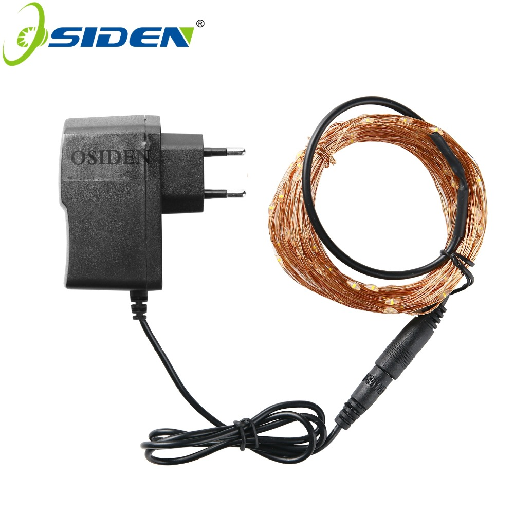 OSIDEN Holiday Lighting DC Cooper Wire 5M 10M Fairy Lights With 12V 1A Adapter Christmas New Year Wedding Decoration Lights