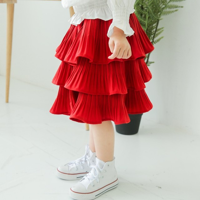 Girls skirt 2017 spring new Korean children chiffon finals wild cake skirt bust skirt free shipping