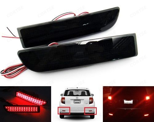 CYAN SOIL BAY Black Smoked Rear Bumper Reflector LED Brake Light For Toyota Avensis Alphard Previa 09 10 11 золотые номера мегафон спб