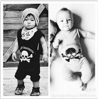 SR078 Skull printed cotton newborn baby rompers girl dresses baby clothes children's clothing set bebe kids clothes флягодержатель merida cl 078 пластик бело зеленый 2124002578