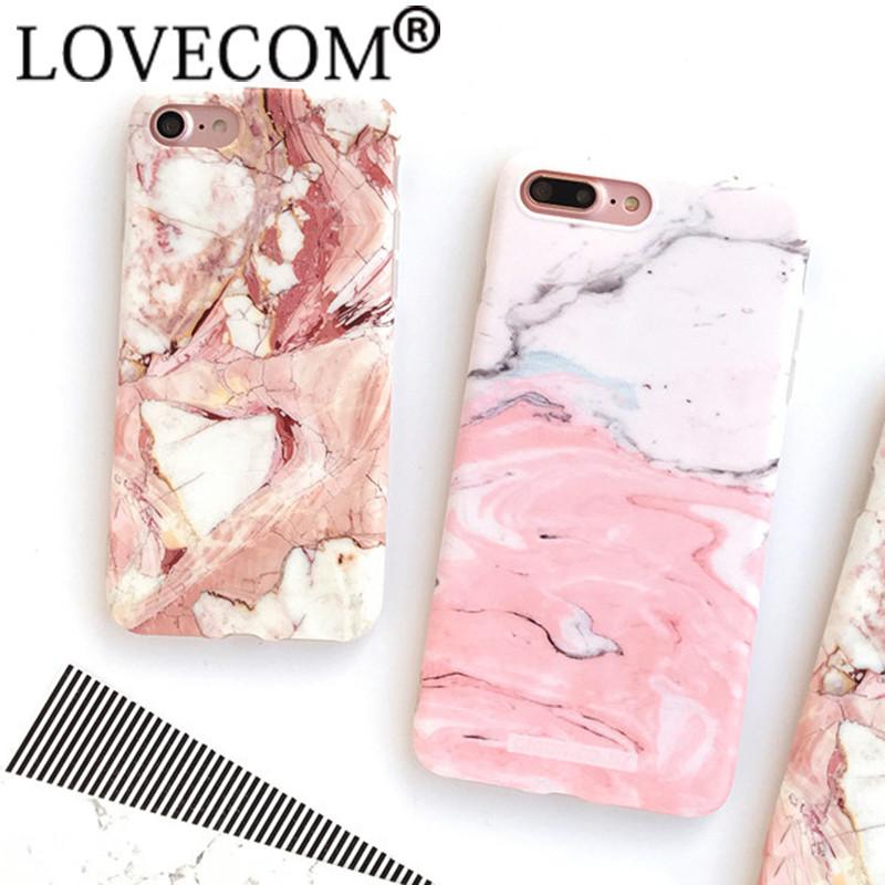 HTB1G3eHOXXXXXblaXXXq6xXFXXXQ - Light Pink Marble Stone Pattern Soft Silicon Phone Cases For iPhone 7 Plus 6 6S Plus Shell PTC 100