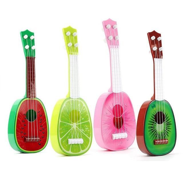 32 CM ילדי ילדים ללמוד גיטרה 4 מחרוזת Ukulele חמוד מיני פירות יכול לשחק כלי נגינה חינוכיים Ukulele צעצועי מתנות