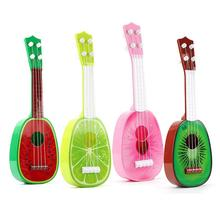 32CM Children Kids Learn Guitar 4 String Ukulele Cute Mini Fruit Can Play Simple Musical Ukulele Toys Gifts