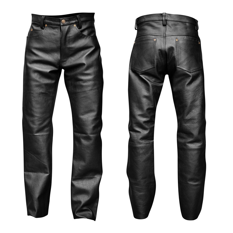 New Sale Mens Leather Pants Faux Leather Pu Material Black Motorcycle Skinny Faux Leather Pants Plus Size S-XXL