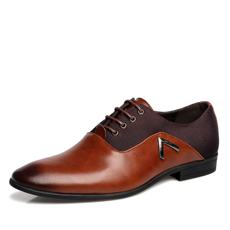 Soft Leather Gentle Wedding Dress Shoes Business Men's Basic Flat Luxury Brand Formal Wearing Casual British Men - China Online Store store