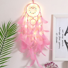 Indian dream catcher pendant home decoration whit lamp three-ring large dream catcher feather handcrafted pendant indian six ring large dream catcher wind bell feather pendant home ornaments birthday gift shop dream bestie lover gift
