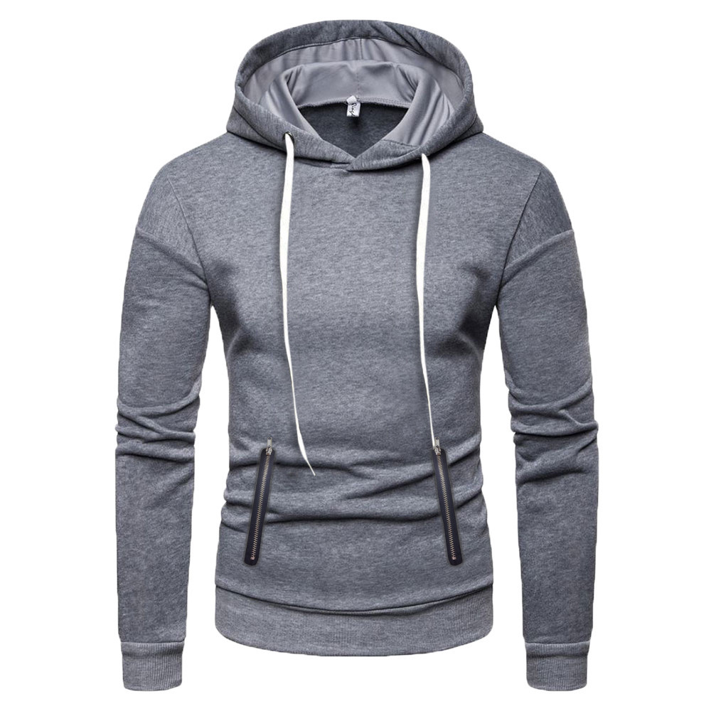 Clothing & Accessories Novelty & More Cool Hoodies,Mens Winter Pure Color Sweatshirt Outwear,Sweatshirts for Men