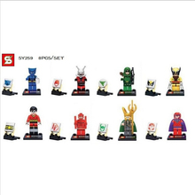 Shen Yuan SY259 Super Heroes Minifigures Heroes Assemble Figures Loki Beast Magneto ANT-MAN Green Arrow diy toys