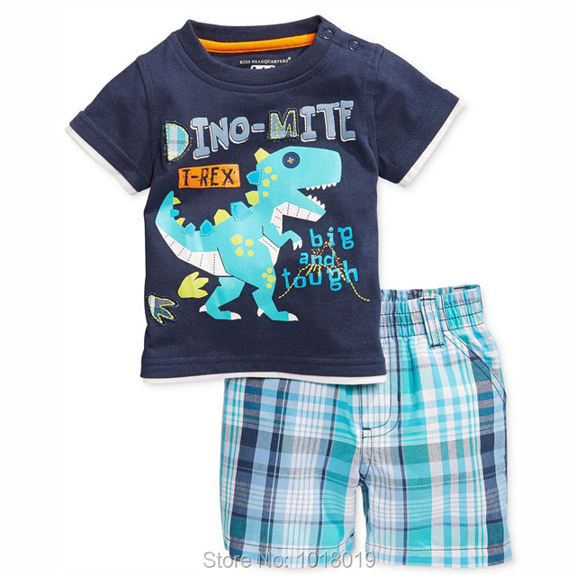 Brand 100% Cotton New 2017 Summer Baby Boys Clothing 2pc Children Suit Toddler Kids Clothes Short Sleeve Clothing Sets Baby Boys