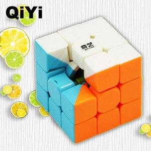 Image 3 - Qiyi cubo mágico profissional warrior w, cubo profissional 3x3x3 de 5.6cm e velocidade por rotação suave brinquedos para crianças presentes mf3