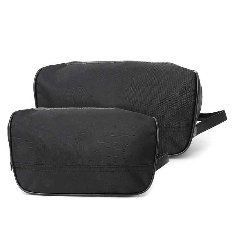 THINKTHENDO Portable hommes noir voyage imperméable maquillage trousse de toilette lavage douche cosmétique organisateur Nylon décontracté S/L sacs à main