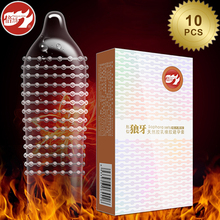 Beilile 10PCs 4 Times Fire Spiked Condom Penis Sex Kits Ice Condoms With Spikes Extension For Sex Intimate Products Shop For Men