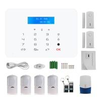 Touch panel Wireless tastiera GSM SMS sistema di Allarme 433 MHz Bulit-in Batteria di Allarme di sicurezza Domestica rilevatore di Movimento PIR magnete