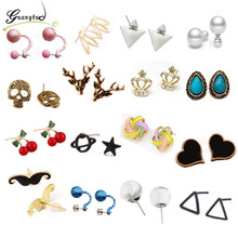 Fashion Stud Earrings For Women Oorbellen Brincos Pendientes Party Daily Wear Jewelry Accessories Bijoux Gift Wholesale