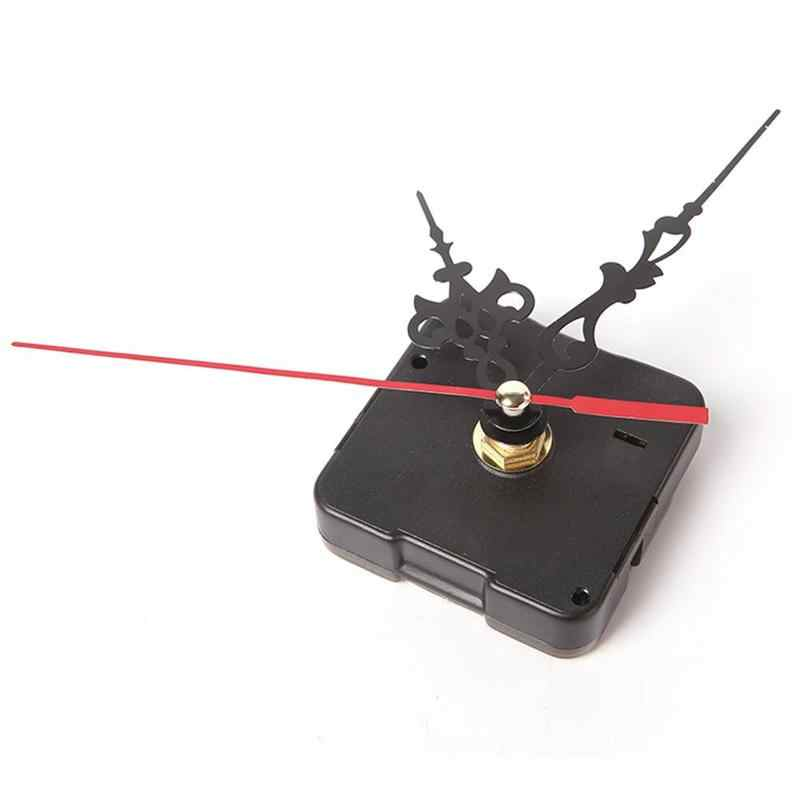 Wall Clock Quartz Movement Mechanism Repair Set DIY Hands Kit Black Parts Tool