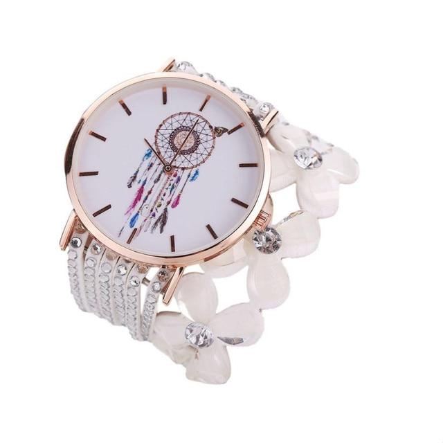 Timezone#502 Women Watches New Luxury Casual Analog Alloy Quartz Watch PU Leathe