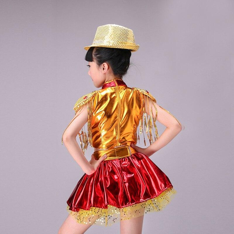 Niños trajes de danza jazz danza ballet vestido chica lentejuelas tutú danza  de salón de baile 589d132b73a