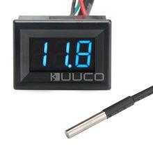 Big sale DC 12V 24V Voltmeter Thermometer 2in1 Fahrenheit degree Temperature Meter Voltage Meter for Car/Indoor/Outdoor
