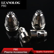 20pcs P80 Consumables Tips and Electrodefor 80A 100A Air Plasma Cutter CUT80 CUT100 and WSM  Welding Machine