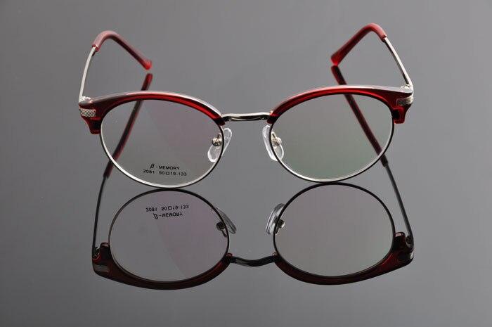 DEDING винтажные очки ретро Женская оправа с линзами при миопии Мужские Рецептурные очки оправа модные очки DD0886 - Цвет оправы: burgundy red