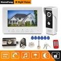 Homefong видеодомофон 7 дюймов проводной видеодомофон 1000TVL ИК дверной Звонок камера с электрическим замком для дома домофон системы