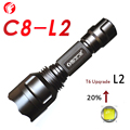 C8 L2 LED Flashlight T6 Upqrade 20% Night Hiking Camping Fishing Rechargeable Waterproof flash light