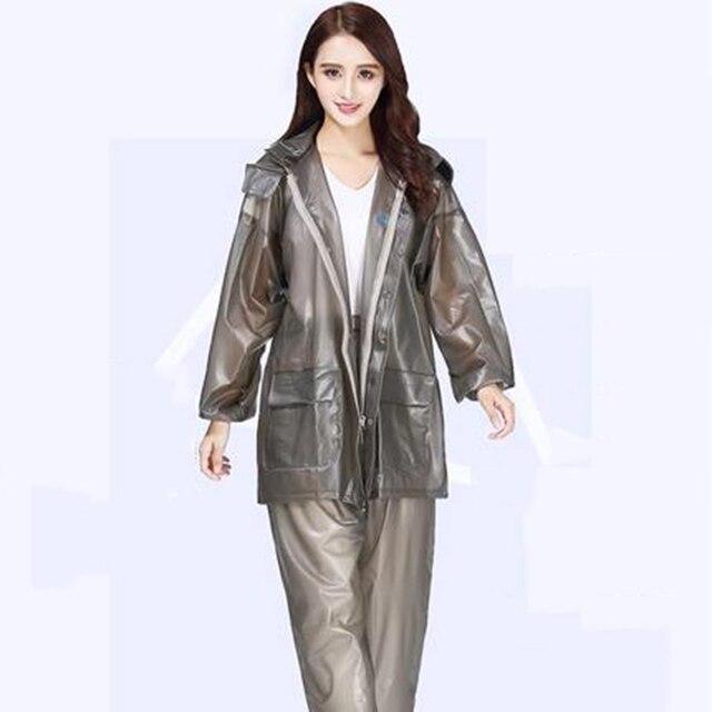 320fe6b42 Rainfreem Raincoat Pants Outdoor Rainhat Ladies Plastic Raincoats Jumpsuit  Rain Manteau De Pluie Femme PVC Overall Plastic Coat