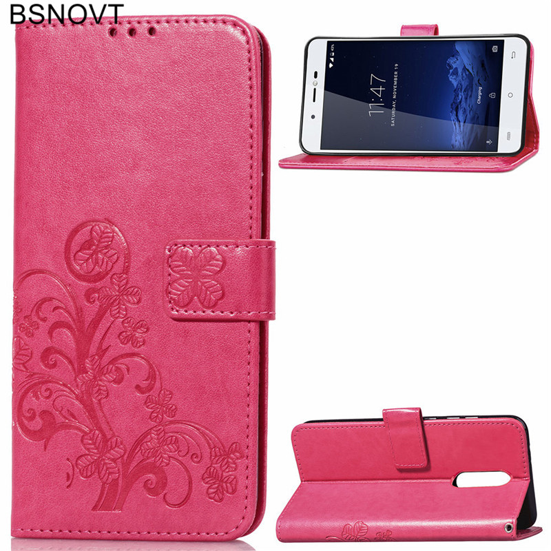 For Cubot R9 Case Soft Silicone Luxury PU Leather Wallet Dirt-resistant Cover Phone Bag 5.0