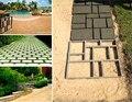DIY Kunststoff Pfad Maker Mold Manuell Zement Ziegel Formen Garten Spaziergang Form Machen Auffahrt Pflaster stepping schritt stein platz form-in Garten-Dielen aus Heim und Garten bei
