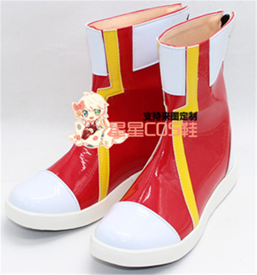 Pokemon brumeux rouge Halloween courte Cosplay chaussures bottes X002