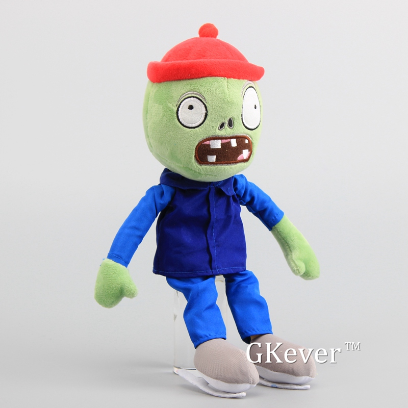 "Plants vs Zombies 2 PVZ Figures Skating Zombie Plush Baby Soft Stuffed Toy Doll 12"" 30 cm 2"