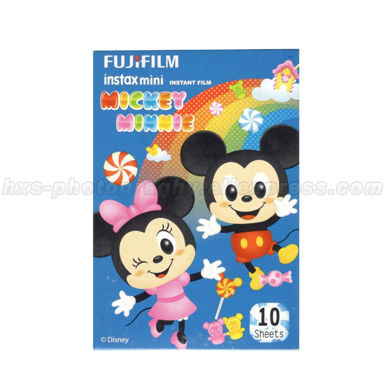 Limited Micky Minnie Fujifilm Instax Mini Instant Film 10pcs Photo Papers For Mini 8 70 7s 7 Camera and Share Smartphone Printer