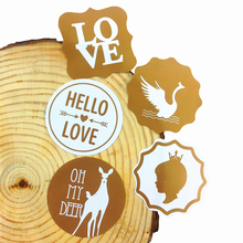 80 Pcs/lot New Retro Vintage Gold Seal Sticker On White For DIY Label Baking Package Three Design Choices
