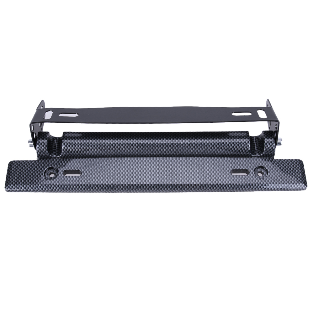 Universal Adjustable Car License Plate Frame Holder Carbon Fiber Racing Number Plate Auto Mount Bracket Car-styling