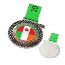 factory custom painted color Medals with ribbons low price Customized canada marathon 10K sports Commemorative medals
