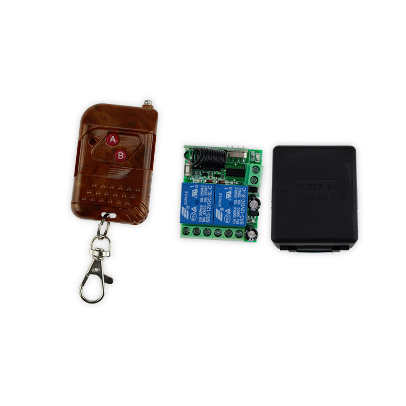 Wireless remote control  Switch 433MHz 12V 2CH +receiver module and shell for access control system wireless pager system 433 92mhz wireless restaurant table buzzer with monitor and watch receiver 3 display 42 call button
