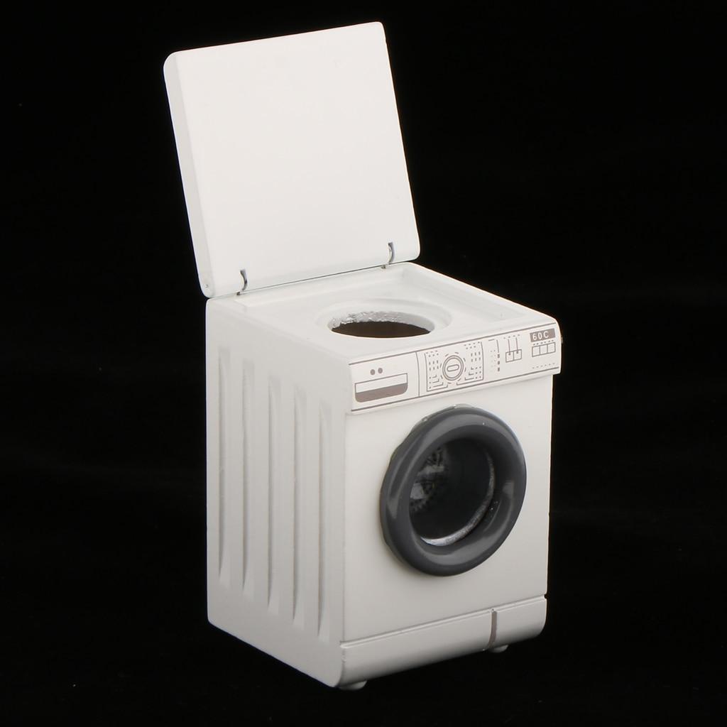 Máquina de lavar rolo para casa de bonecas miniatura lavanderia quarto 1/12