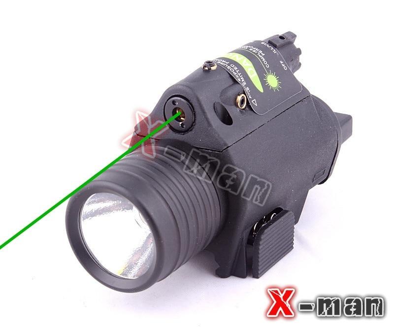 night hunting gun sight 532nm pistol green laser 2014 new tactical Green laser sight pistol laser flashlight combo