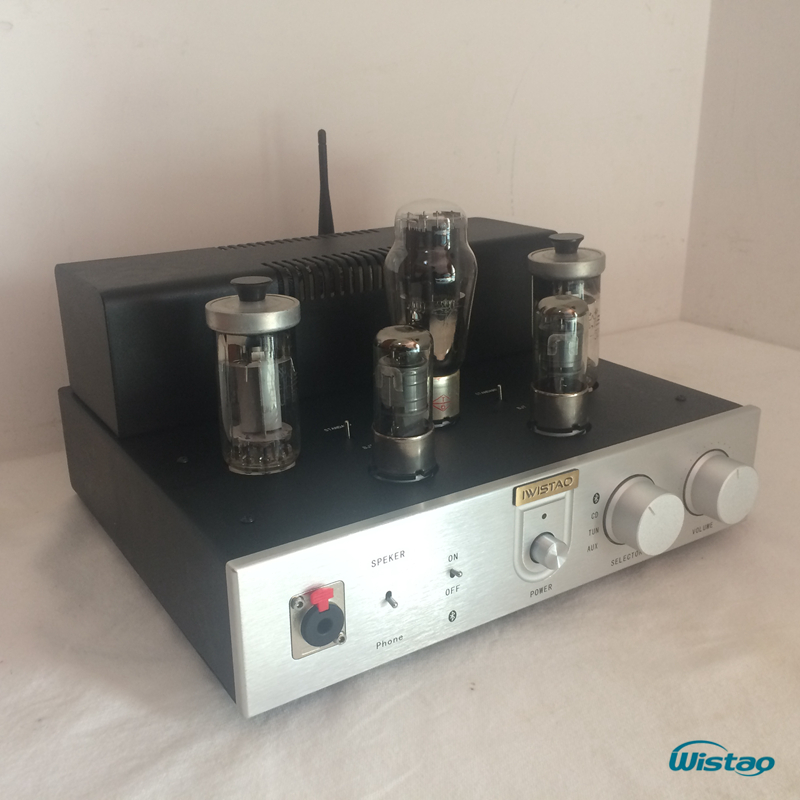 IWISTAO Bluetooth 4.0 Tube Amplifier FU50 Power Stage Class A Signal-ended Headphone Amp HIFI Audio 2x12W HIFI Audio iwistao hifi hybrid tube headphone amplifier class a 2p2 preamp fet irf540 power stage aluminum casing
