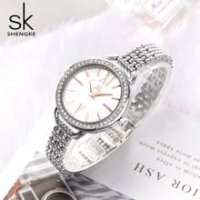 Shengke Nieuwe Sieraden vrouwen Quartz Horloge Vrouwen Horloge Luxe Mode Dames Zwart Japan Mov Rosegoud Relogio Feminino nieuwe SK 2019