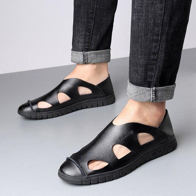 Plein Marque Hommes Casual D'été En Haute Plage 2019 Cuir Qualité Sandales Chaussures De Air Mode D2WEHI9