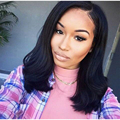 7A short bob wig Brazilian Virgin Full Lace Human Hair Wigs Full Lace Front Wig Natural Black Straight Wigs for Black Women