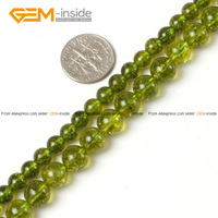 Fashion Round Green Dyed Peridot Natural Loose Stone Beads 6 8mm Strand 15 Diy Bracelet Necklace