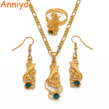 цена на Anniyo Noble Bird Pendant & Necklaces & Earrings & Rings for Woman,Papua New Guinea PNG Jewellery Party Gifts #109606GN