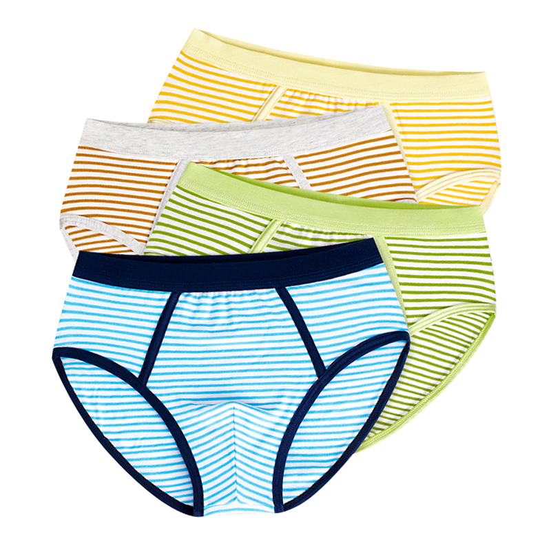 все цены на Soft Organic Cotton Kids Underwear 4 Pcs/lot Teenager Boxer Baby Briefs Shorts Panties for 4-14y Children panty Boys Underwear