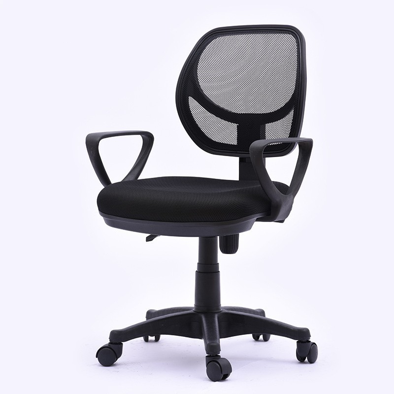 Round Back Office Chair Staff Household Computer Net Cloth Lifting And Rotating Chair Back Staff Student Chair